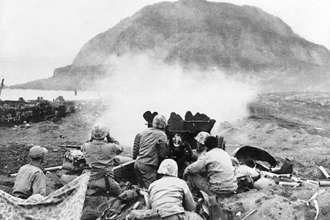 "<p>The Battle of Iwo Jima is an iconic event, thanks largely due to Joe Rosenthal's photograph of the American flag being raised. But military analysts still argue whether the island's limited strategic value justified the costly action. Twenty thousand Japanese defenders were dug in to an elaborate system of bunkers, caves, and tunnels. The attack was preceded by a massive naval and air bombardment lasting several days covering the entire island. Although outnumbered five to one and with no prospect of victory, the Japanese put up strong resistance and virtually none surrendered. Many positions could be cleared only out by hand grenades and flamethrowers, including the fearsome M4A3R3 Sherman ""Zippo"" flamethrower tanks.</p>"