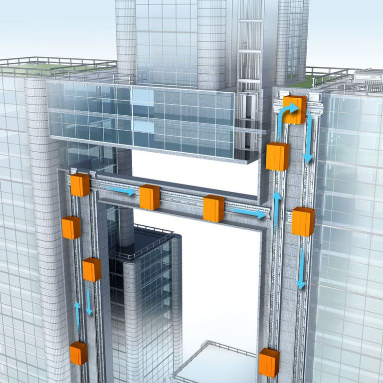 Pro Drone Logo Design: The Wild Elevators Of The Future Are Going Up (And Sideways