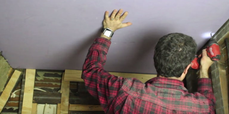 How To Hang Drywall Ceiling By Yourself
