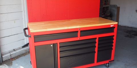 Amazing The New Milwaukee Tool Mobile Workstation Is A Diyers Dream Theyellowbook Wood Chair Design Ideas Theyellowbookinfo