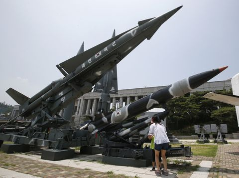 Missile, Aerospace engineering, Rocket, Ammunition, Aircraft, Sculpture, Tourist attraction, Bench,