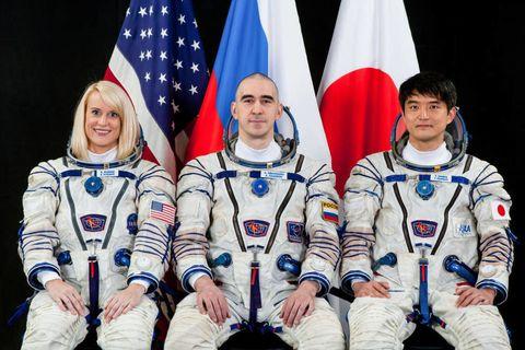 Flag, Space, Astronaut, Team, Crew, Flag of the united states, Curtain, Spacecraft,