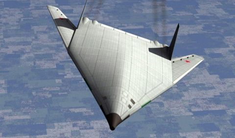 Artist's depiction of Russian bomber.