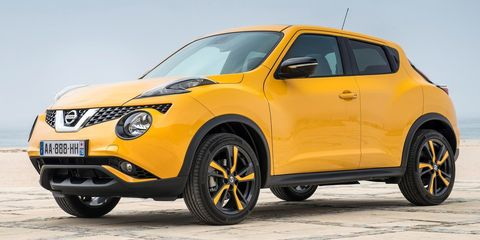 "<p>By now, it should be considered common knowledge that if you can get past <a href=""http://www.roadandtrack.com/new-cars/news/a7717/five-things-learned-2014-nissan-juke-nismo-rs/"" target=""_blank"">the Juke</a>'s funky looks, it's a surprisingly fun-to-drive little CUV. But if you get the all-wheel-drive version, <a href=""http://www.caranddriver.com/nissan/juke"" target=""_blank"">it's also pretty quick</a>. The only downside is that you can only get a manual transmission with the front-wheel-drive version.</p>"