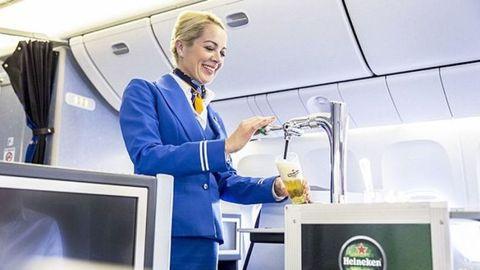 Flight attendant, Service, Logo, Aerospace engineering, Job, Employment, Air travel, Blond, Airline, White-collar worker,