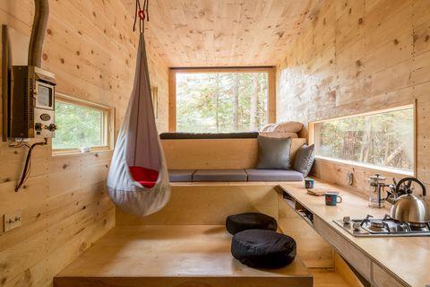 Wood, Room, Interior design, Window, Property, Floor, Ceiling, Wall, Plumbing fixture, Couch,