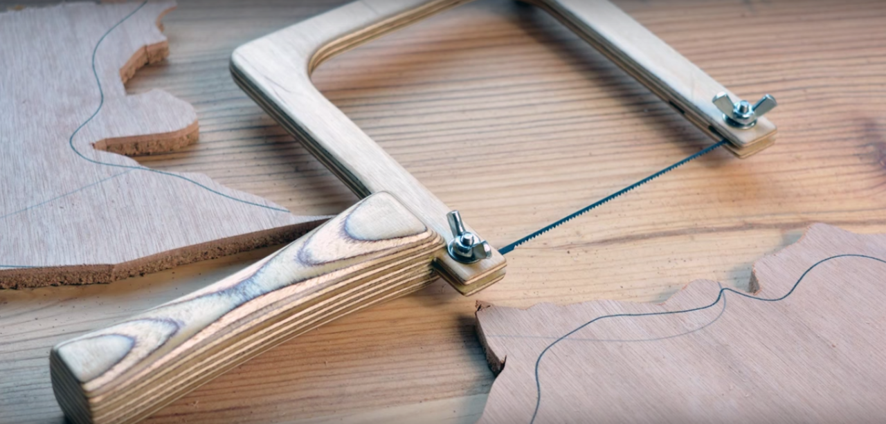 You Can Build Your Own Coping Saw for Cutting Elegant Curves