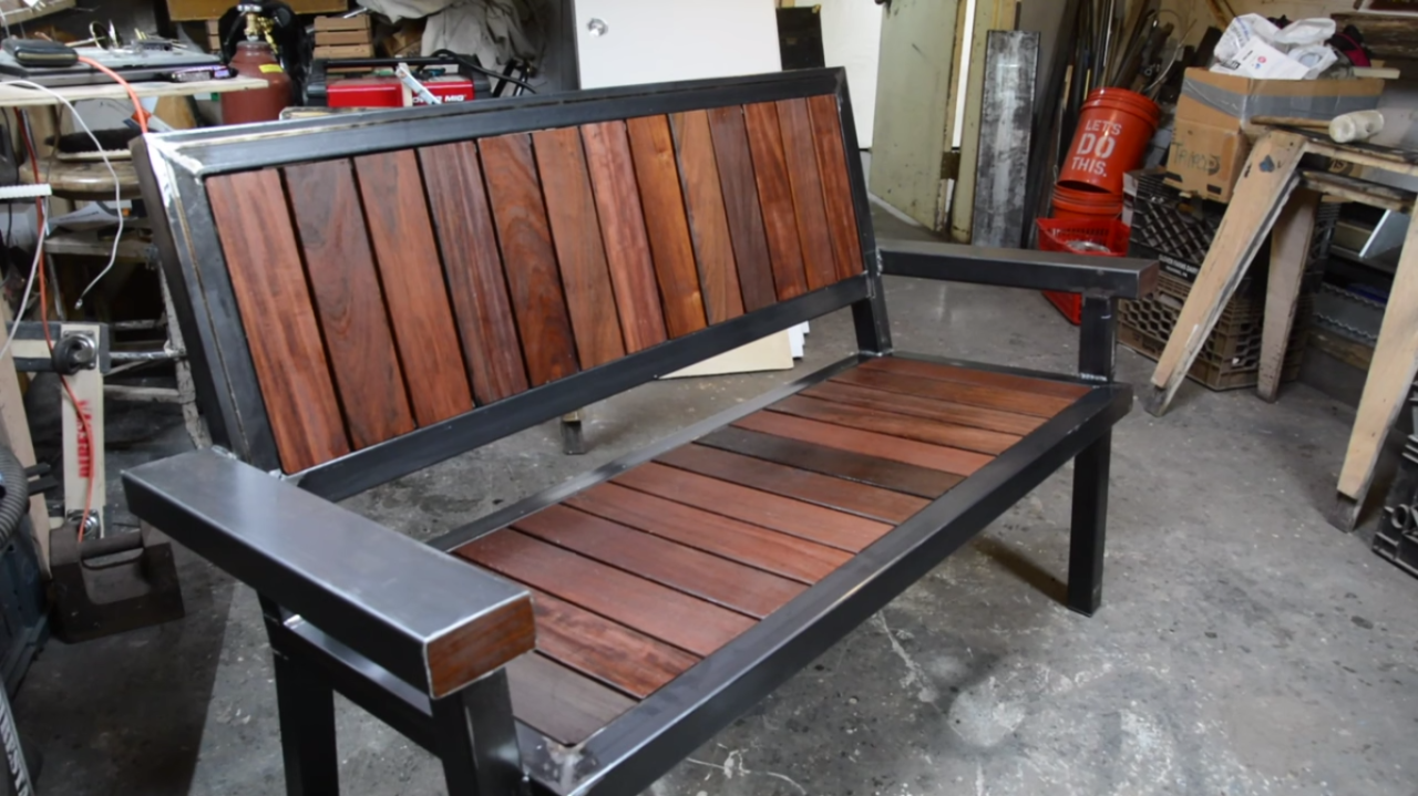 A Sharp-Looking Bench Built From Decking Scraps