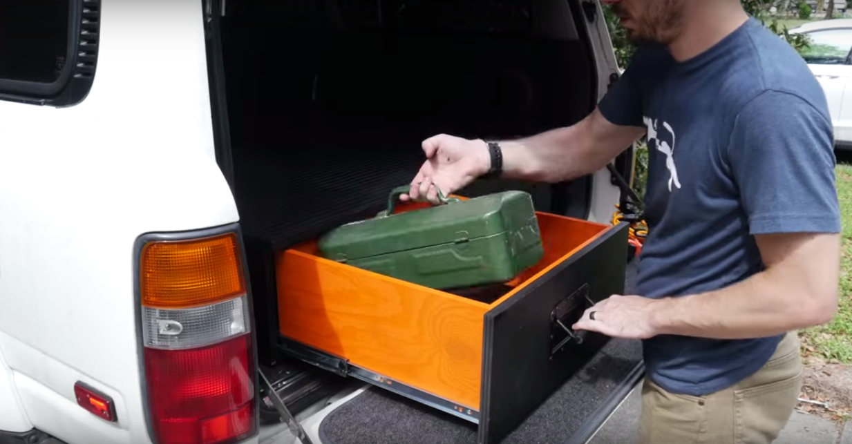 How To Build A Diy Tool Cabinet For Your Suv Truck Box Tool Storage