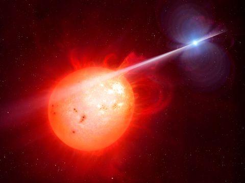 Binary star system AR Scorpii