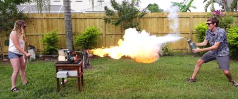 Backyard Scientist fire liquid nitrogen battle