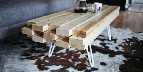 coffee table,  2x4 projects