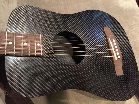A Carbon Fiber Mini-Guitar Actually Sounds Kind of Great
