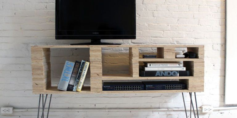 plywood media console & 15 Simple Projects to Make From One Sheet of Plywood | Plywood DIY ...