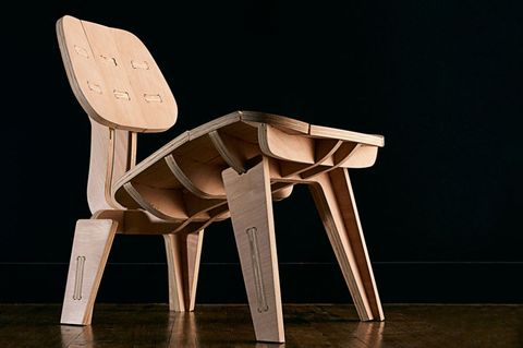 "<p>This modern Eames-inspired chair was made without any traditional woodworking tools. Instead, the builder used just a single piece of plywood and a CNC machine. Once the plywood is cut, the chair is assembled using glue and a mallet.</p><p><a href=""http://www.popularmechanics.com/home/how-to-plans/how-to/a12967/build-your-own-beautiful-flat-pack-chair-16878142/"">Eames Chair</a></p>"