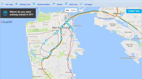 Muni Subway Map.San Francisco Wants You To Draw Your Ideal Transit Map