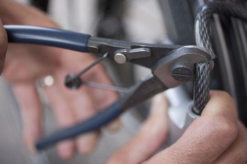 Cutting a Bike Lock