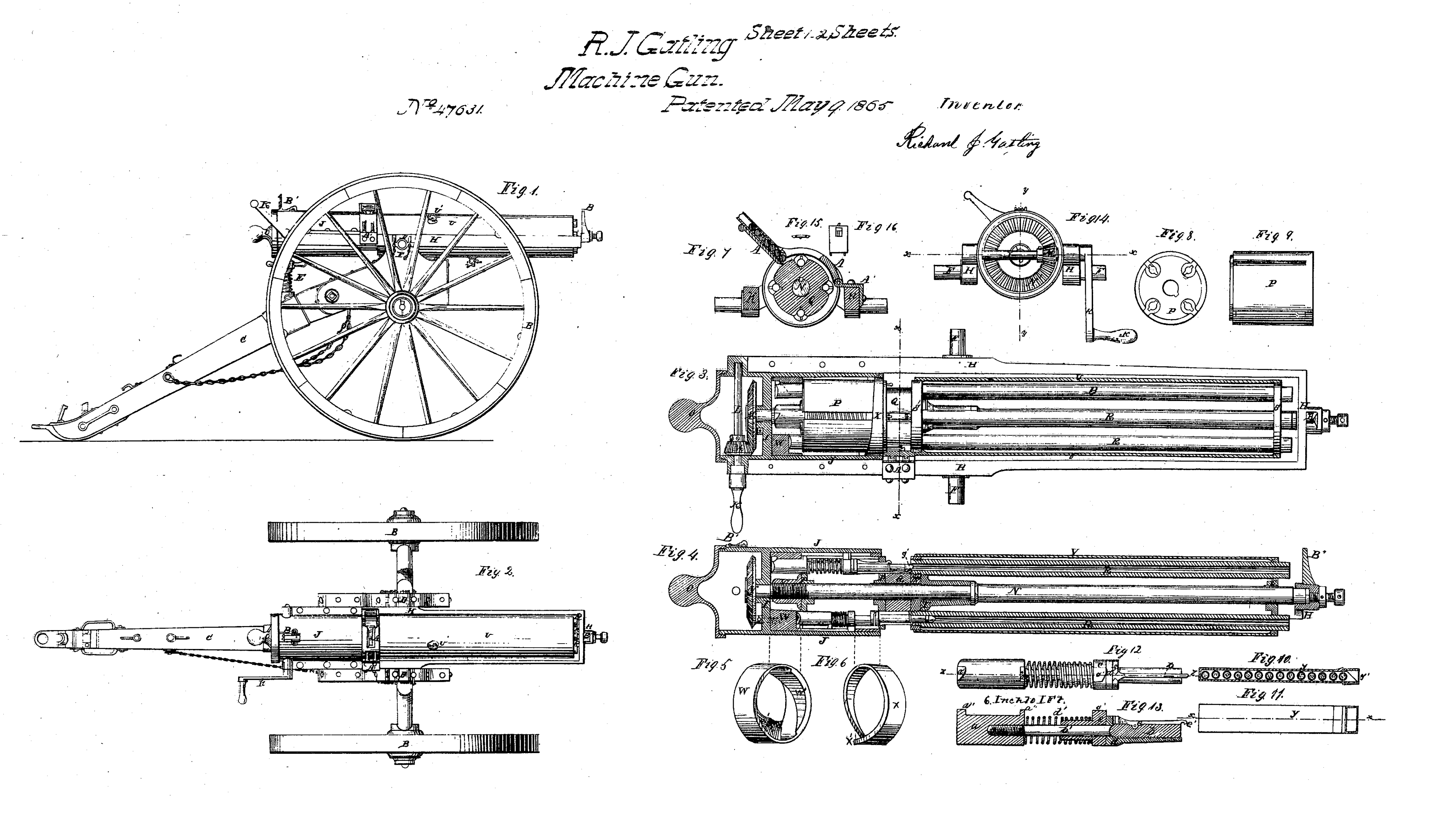 the story of the gatling gunColt Pistol Schematics Photo Album Wire Diagram Images Inspirations #19