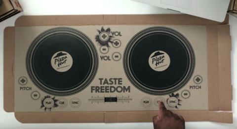 Pizza Hut DJ box