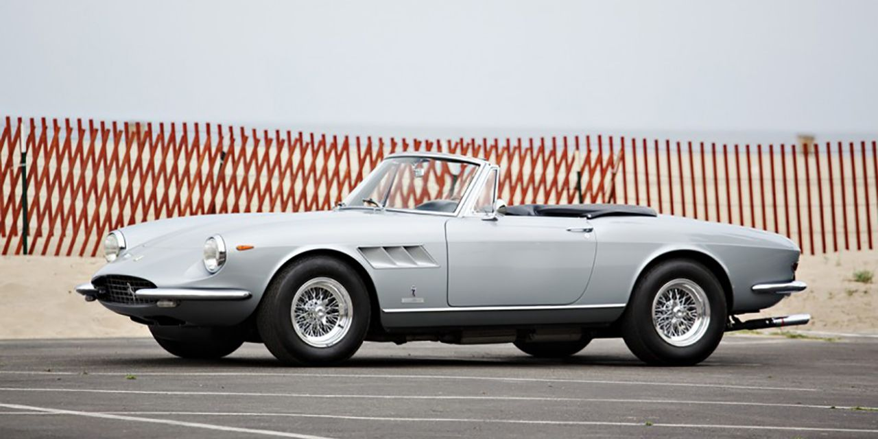 "<p>Ferrari's numbering on its signature V-12 models got lost in the haze of the 1960s. The 1966–1968 330GTS roadster and GTC coupe had nothing to do with the 1963 330 America, itself a renamed 250GTE with the larger 4.0-liter Colombo engine. They also had no relation to the longer, plusher 330GT two-plus-two in 1964. Instead, the 330GTS was a replacement for the 275GTS, as both were based on the shorter-wheelbase 275GTB and were considered to be more comfortable than the GTB yet sportier than the two-plus-two.</p><p>This silver 1968 model belonged to casino magnate William F. Harrah, who retrofitted a Porsche-style targa roof in the hope that Ferrari would build 20 more. It even appeared on the December 1969 cover of <em data-redactor-tag=""em"">Road & Track,</em> but the factory declined Harrah's proposal. A collector in Los Angeles restored the convertible roof a couple of years ago. Gooding says the red leather, Borrani wheels, glass, engine, and transmission on this 27,000-mile example are all original. —<i data-redactor-tag=""i"">Clifford Atiyeh</i> </p><p><i data-redactor-tag=""i""><em data-redactor-tag=""em""><a href=""http://www.caranddriver.com/flipbook/all-the-money-the-top-25-most-expensive-cars-sold-at-the-2016-monterey-auctions"" target=""_blank"">This article originally appeared on Car and Driver.</a></em><span class=""redactor-invisible-space"" data-verified=""redactor"" data-redactor-tag=""span"" data-redactor-class=""redactor-invisible-space""></span><br></i></p>"