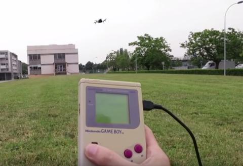 Game Boy controls drone