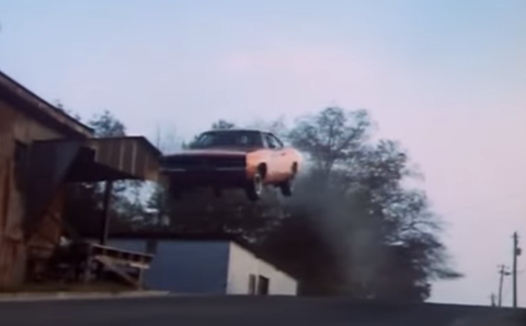 """<p>For its famous jump – the one in the opening credits – the 1969 Dodge Charger """"General Lee"""" had several hundred pounds of cement in its trunk. Earlier jumps had gone badly because the Charger was too front-heavy.</p>"""