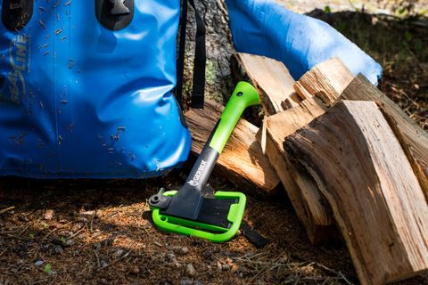"<p>Gerber Gear, the Portland, Oregon, knife-maker, is bringing its blade expertise and intuitive designs to burlier equipment. The bright handle on the Freescape hatchet means it's never misplaced amid the firewood.</p><p><span data-redactor-tag=""span"" data-verified=""redactor""></span><a href=""http://www.gerbergear.com/Activity/Explore/Gear/14-Hatchet_31-002647"" target=""_blank"">Gerber Gear hatchet</a> ($62).</p>"