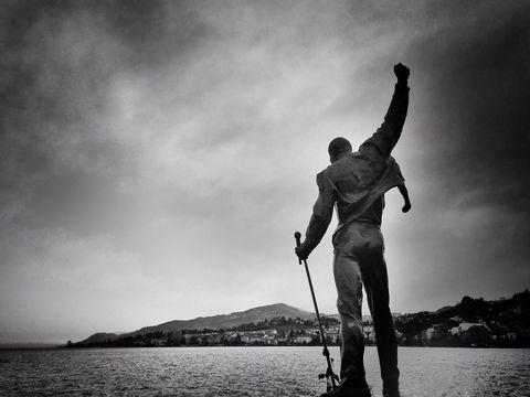 Statue of Freddie Mercury in Montreux, Switzerland