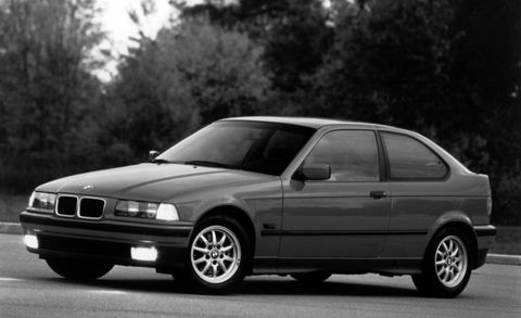 <p>No one likes driving a compromise. Even worse is driving a car that looks like a compromise—and that was the problem with BMW's 318ti three-door hatchback. Based on the European 3-series Compact, the 318ti was introduced in America as a 1995 model. It was BMW's play to bring in customers who were being left behind as the 3-series became more expensive. Initially, the 318ti carried an advertised base price of $19,900. A new BMW for less than 20 grand! That was about $5000 less than the 318i sedan. <br><br>The 318ti shared its front structure and styling with other members of the E36 3-series family, but it was chopped off in back into an awkward bobtail hatchback. And to accommodate the short rear overhang, the 318ti used the semi-trailing-arm rear suspension from the previous, E30-generation 3-series rather than the multilink system used on other E36s.</p>