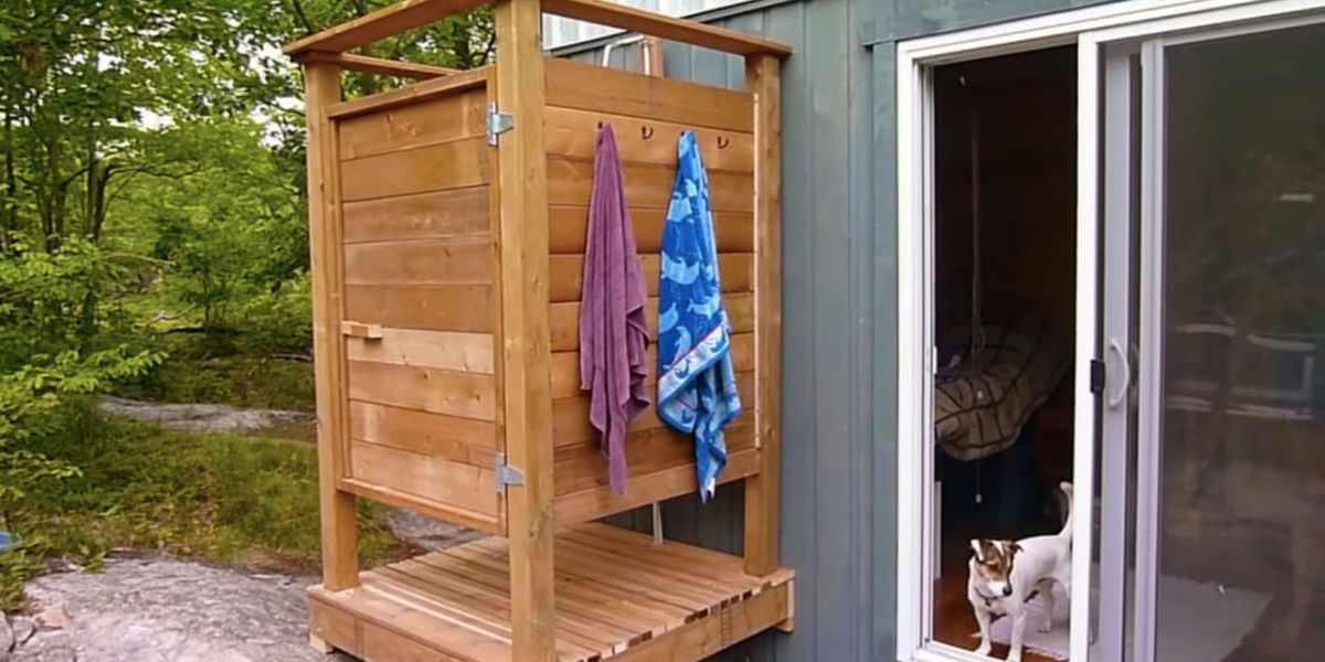How to build an outdoor shower - How to make an outdoor shower ...