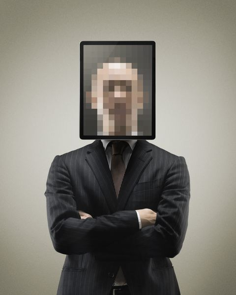 Man with Blurred Face