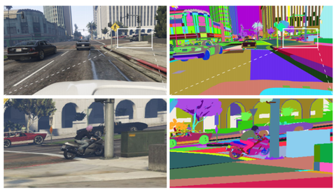 How the AI sees Grand Theft Auto V.