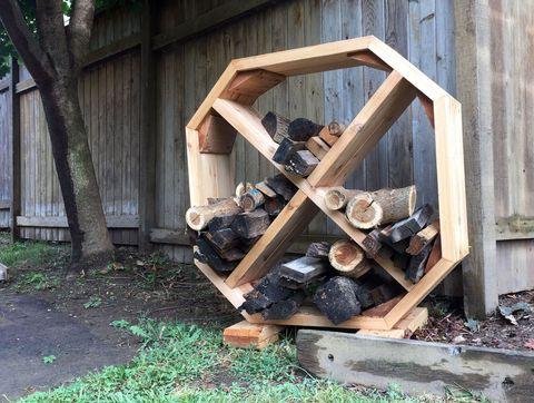 firewood organizer
