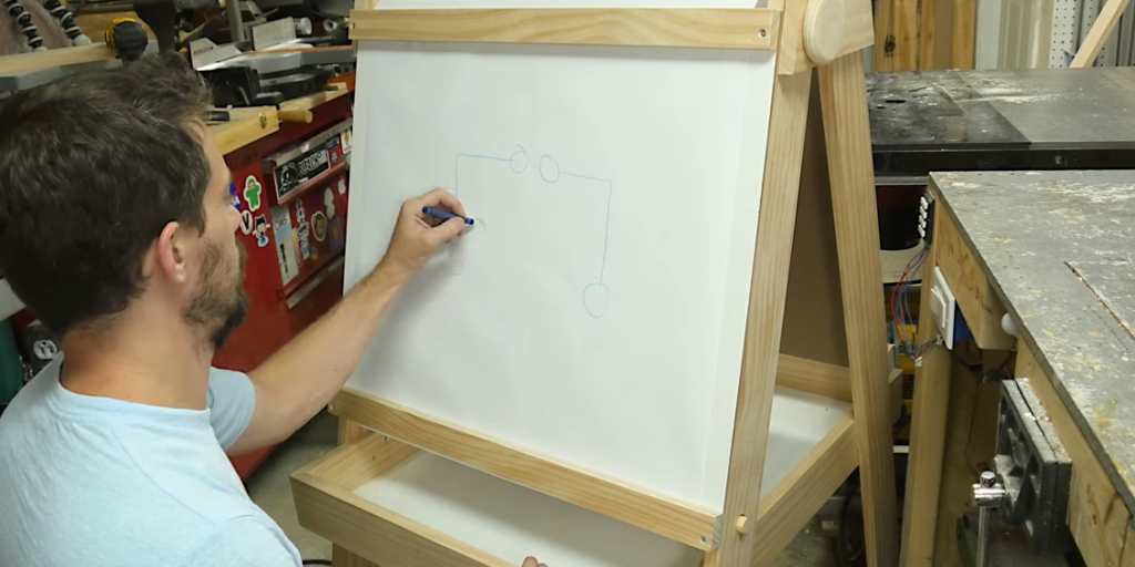 how to build a chalkboard easel