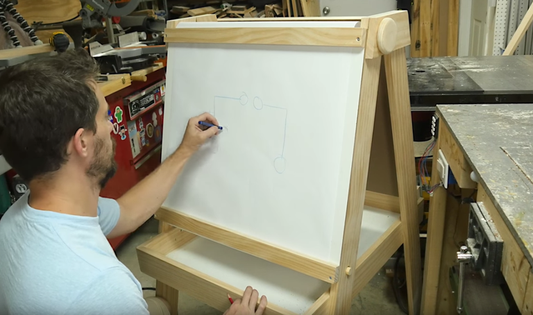 How to build a kids art easel art easel its a wonderful thing to encourage a child to drawas long as they have a place to do it that isnt your wall if you want to make your own solutioingenieria Gallery