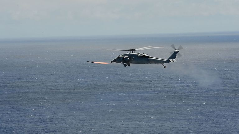 The US Navy Has Demonstrated A New Way Of Designating Targets For Helicopter Mounted Missiles Keeping Crews In Loop But Out Line Fire