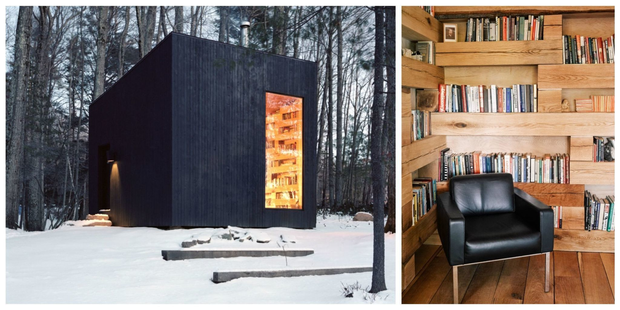 This Tiny Shed in the Woods Is a Library
