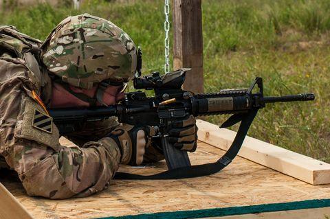 Gun, Soldier, Firearm, Military, Machine gun, Military camouflage, Army, Infantry, Military organization, Marines,