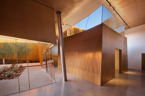 """<p> <a href=""""http://www.scottsdalelibrary.org/locations#arabian"""" target=""""_blank"""">Arabian Library</a> is amodern library that takesinspiration from its landscape —the sprawlingdesert canyons of northern Arizona. It's not hard to get the reference withits weathered walls and narrow """"canyon courts,"""" which open up to the sky.<br></p><p><span class=""""redactor-invisible-space"""" data-verified=""""redactor"""" data-redactor-tag=""""span"""" data-redactor-class=""""redactor-invisible-space""""></span></p>"""
