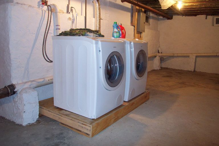 Build A Washer And Dryer Platform To Add Storage And Save