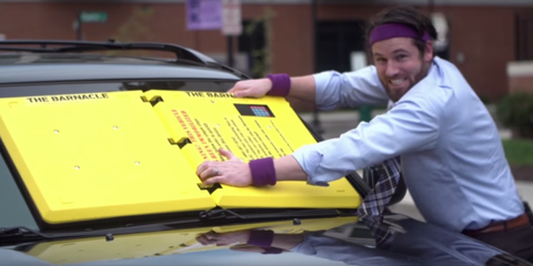 This Weird Windshield Blocker Could Replace the Parking Boot