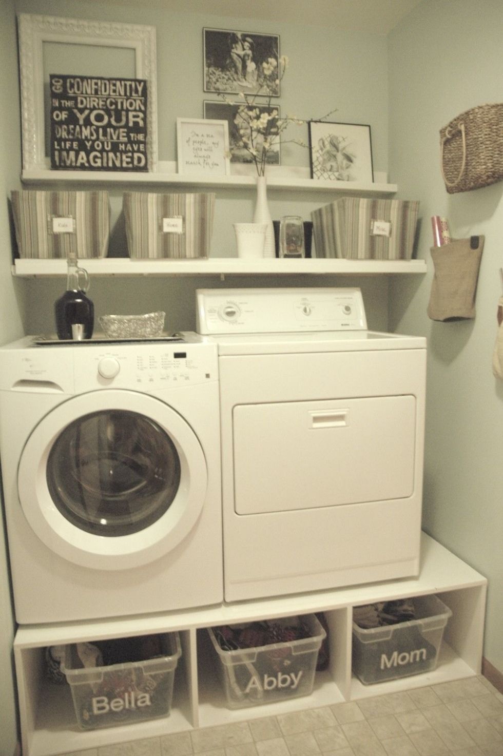 Tremendously Thrifty. Just A Girl Blog Built Her Washer Dryer Pedestals ...