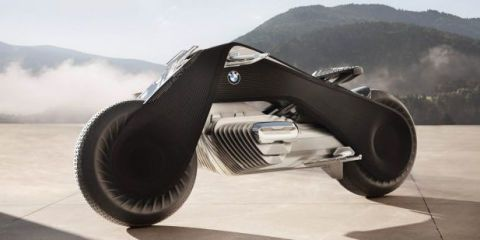BMW's Wild New Self-Balancing Motorcycle Concept Wouldn't Require a Helmet