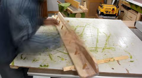 Woodworked coat rack