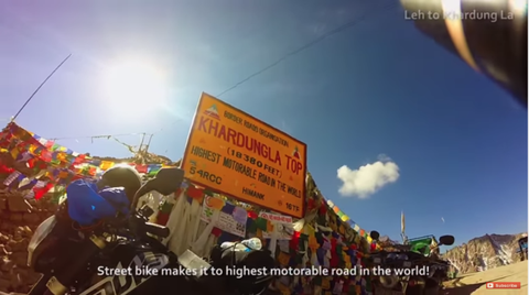 Motorbike ride India