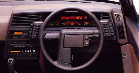 <p>The XT was one of Subaru's earliest attempts at making an out-of-left-field car. As was standard practice for the time, it used digital gauges, but interestingly, the tach has a sort of 3D effect, with increasing revs seeming to come towards you.&nbsp;</p>