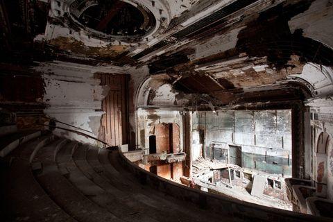 Techo, Espacio, Ruinas, Columna,