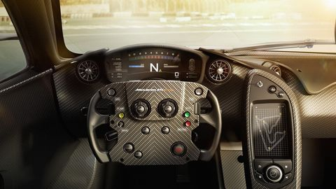 <p>In a race car, gauges must prioritize function over form. The McLaren P1 and P1 GTR&nbsp;does the same thing with a simple tach that runs horizontally across the top of the display, a big gear indicator, and a big speed readout. Elegant and simple.</p>