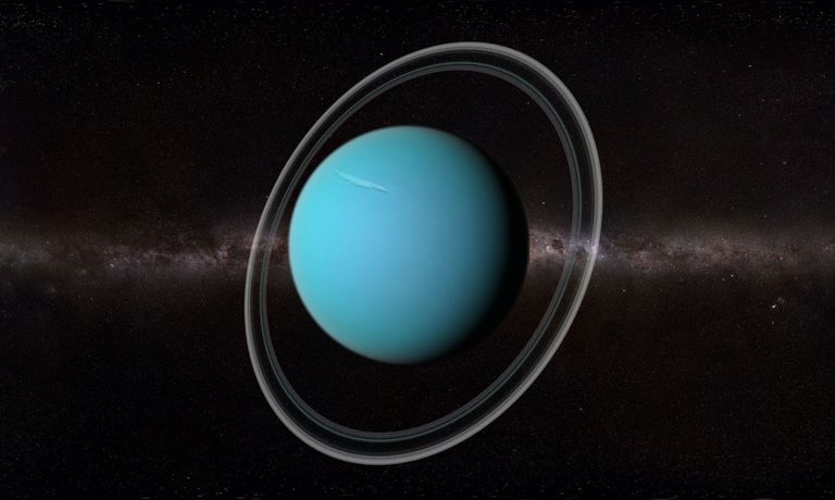 Collision That Tilted Uranus Could Have Also Created Most