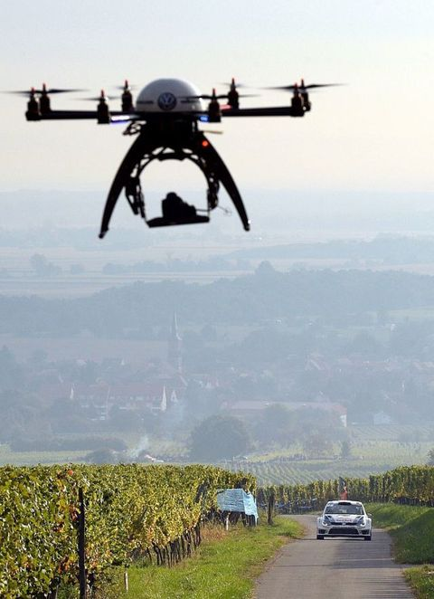 drones with cars